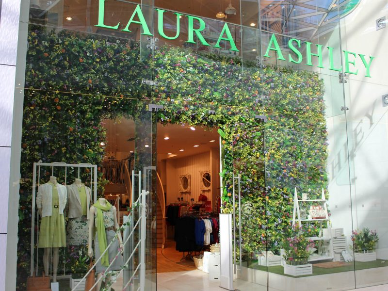laura ashley Wild Meadow window display westfield london visual merchandising bespoke prop manufacturer