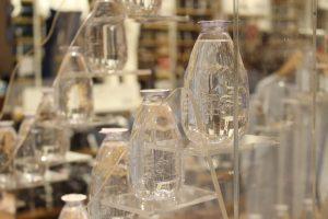 Uniqlo evian instore display POS bespoke props retail design acrylic display
