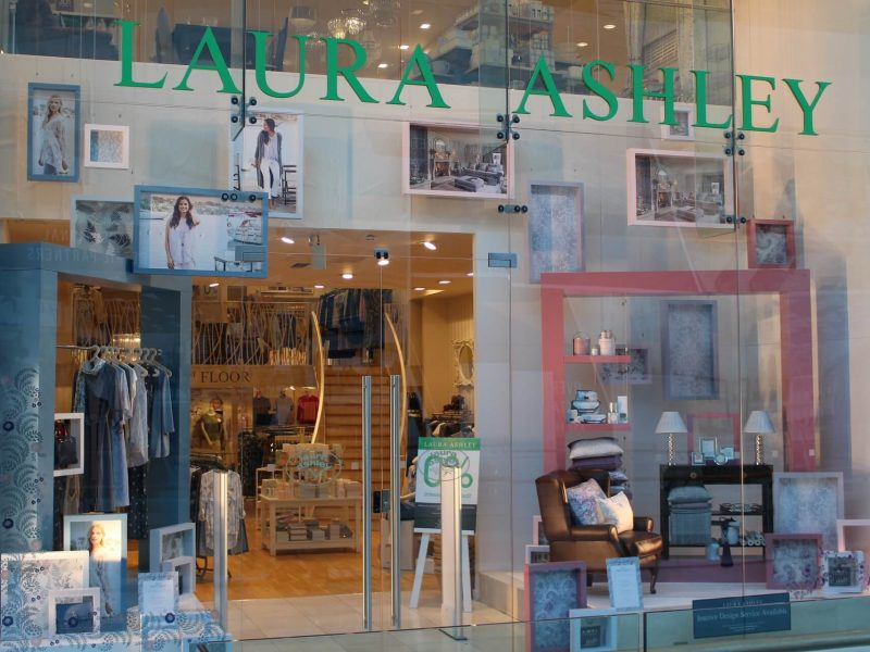 Laura Ashley visual merchandising window display bespoke props prop manufacturer retail design
