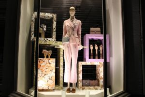 Matches fashion wallflower visual merchandising window display bespoke prop manufacture