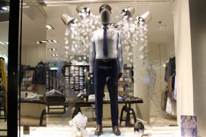 T.M Lewin cool comfort design window display visual merchandising bespoke prop manufacture london