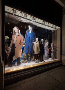 Aquascutum window display retail displays visual merchandising bespoke