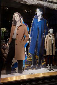 Aquascutum window display retail displays visual merchandising bespoke