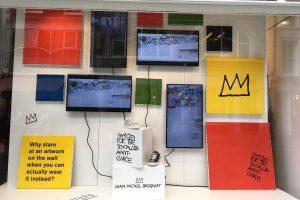 Browns Basquiat visual merchandising retail design window display bespoke props prop manufacture