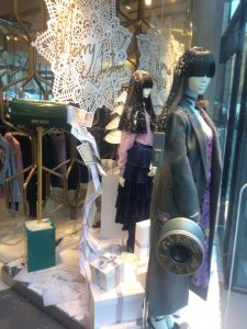 Miss Sixty christmas 2017 window display visual merchandising bespoke props