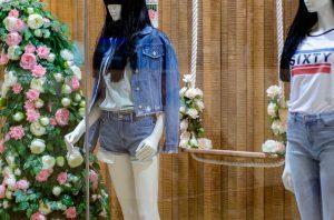 Miss Sixty Westfield window display bespoke props visual merchandising london prop manufacturer