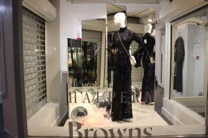 Browns Fashion halpern window display lfw bespoke props lighting design visual merchandising retail design company prop manufacturing company