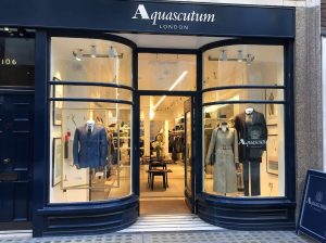 Aquascutum window display retail display visual merchandising prop manufacture bespoke design HelloFlamingo