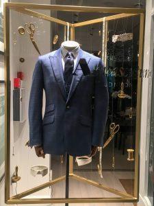 Aquascutum window display retail display visual merchandising prop manufacture bespoke design HelloFlamingo