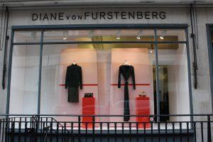 Diane Von Furstenberg christmas 2016 window design visual merchandising retail design window display bespoke props prop manufacture