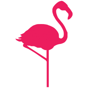 hello flamingo icon