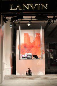 Lanvin window display installation retail design print visual merchandising bespoke props prop manufacture