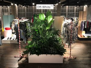 Browns Off White Bespoke prop manufacture visual merchandising production lightbox signage branding