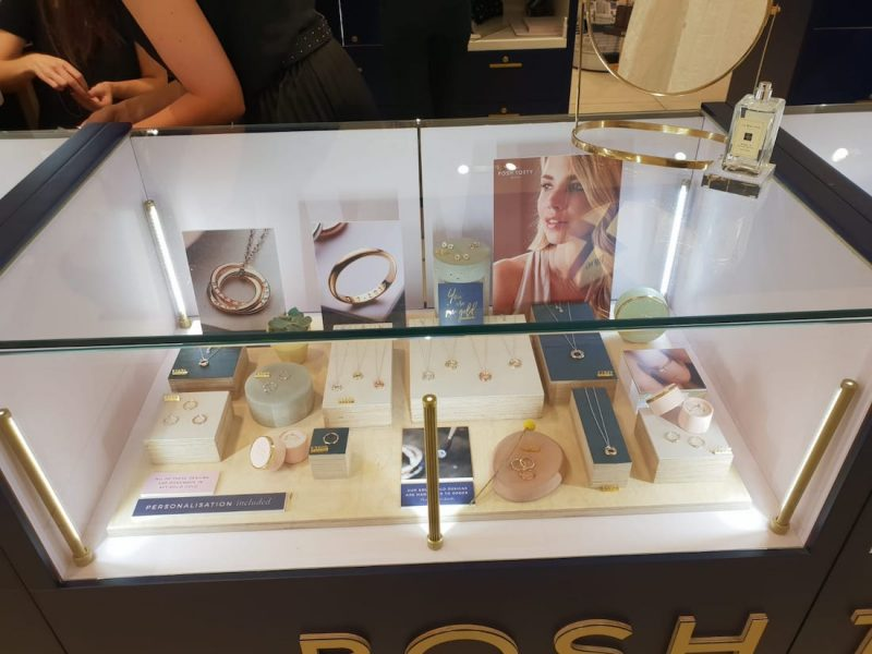 Posh Totty Designs In Store Brighton bespokeprop elys of wimbledon prop manufacture jewellery display cabinet signage visual merchandising production