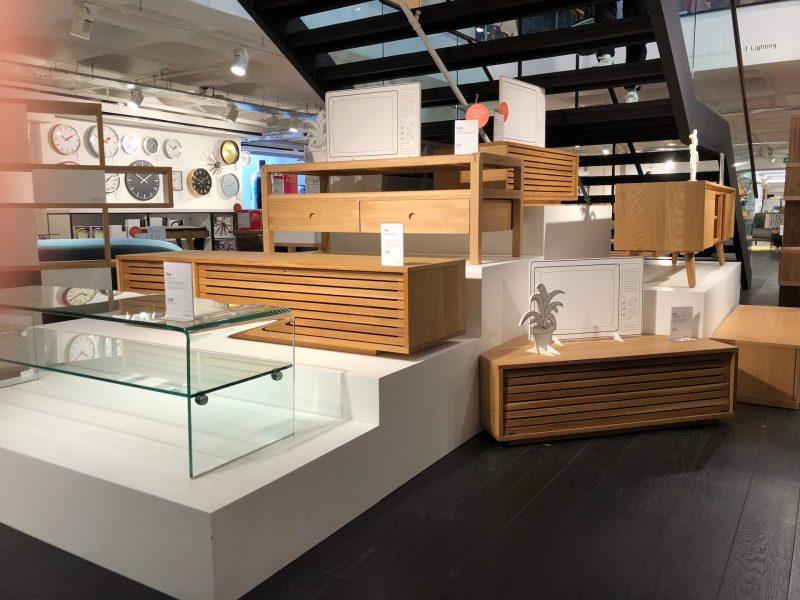 Habitat bespoke prop manufacture visual merchandising plinth production