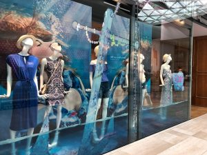 Oasis fashion make a splash window display instore bespoke props prop manufacture visual merchandising fashion