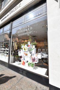 Space NK - Regent Street windows regent street bespoke prop clean decoded prop manufacture visual merchandising production