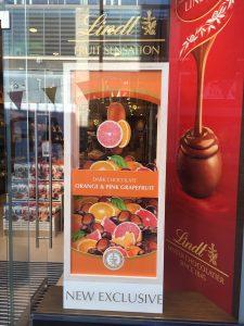 Lindt - Fruit Sensations new launch bespoke prop manufacture visual merchandising plinth production