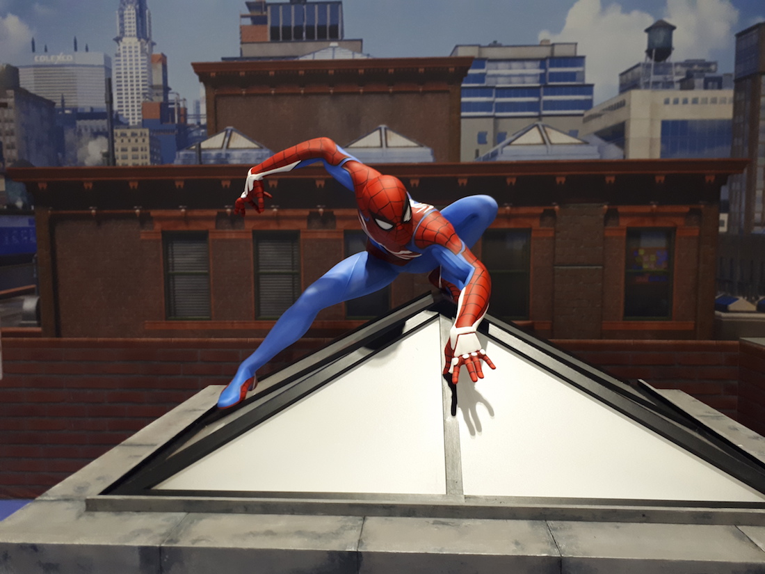 Hello Flamingo Spiderman ps4 marvel event prop making