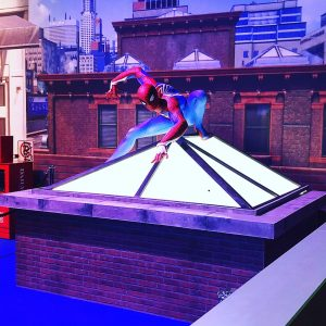Hello Flamingo Spiderman ps4 marvel event prop making
