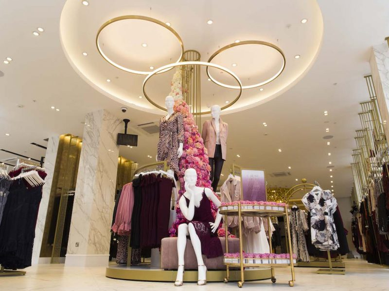 Lipsy fashion bespoke Oxford Street new store launch visual merchandising production instore
