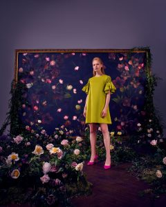 Ted Baker photographic shoot props studio shoot floral window display bespoke prop manufacturer visual merchandising