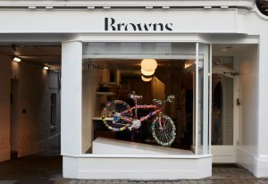 Browns window display Christmas 2018 - prop manufacture