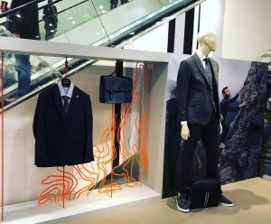 Ted Baker -John Lewis, endurance collection, prop manufacturing, in store props, visual merchandising