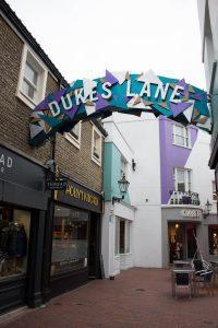 Dukes Lane, Brighton - Christmas shopping design, The Lanes, retail