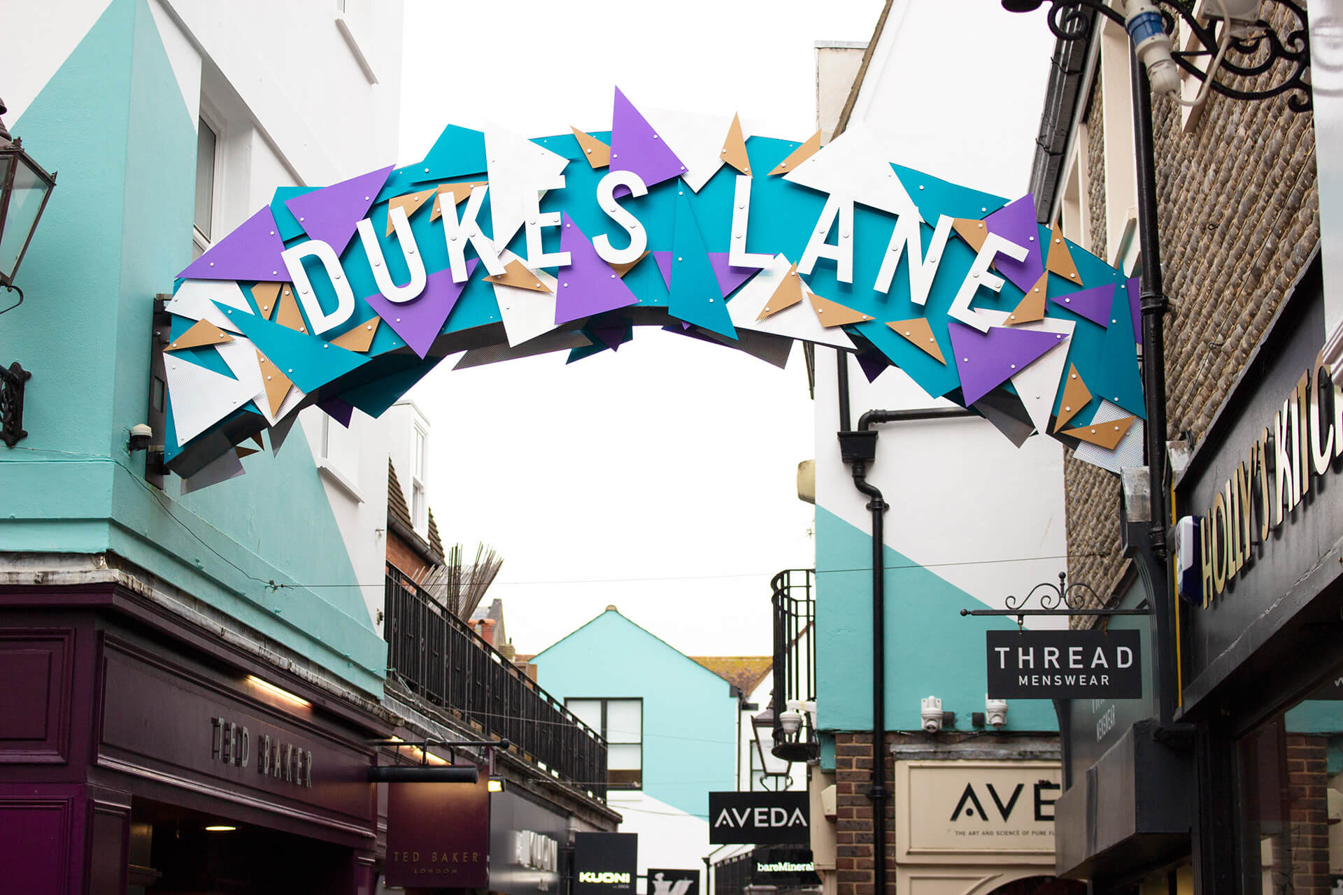 Dukes Lane, Brighton - Christmas shopping design, The Lanes, retail
