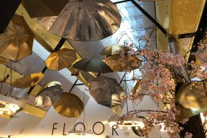 Harvey Nichols - Mary Poppins, Christmas, visual merchandising, display, umbrellas, fifth floor