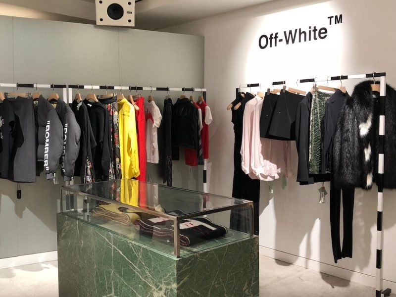 Off White - Selfridges, Hello Flamingo, brands, display, Visual Merchandising
