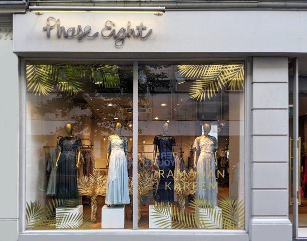 Phase Eight Hello Flamingo Ramadan window display