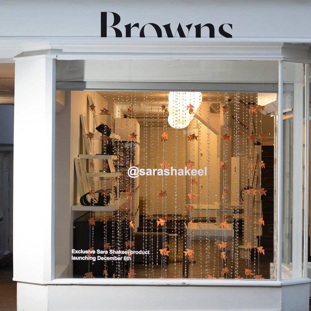 Browns+Hello Flamingo+Christmas+Window Display+VM+Sara Shakeel+Crystals+Goldfish+visual merchandising (4)