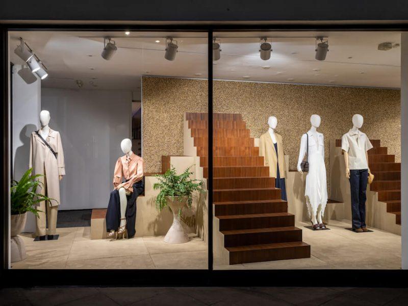 Hello Flamingo Joseph window display manufacturing cnc retail design